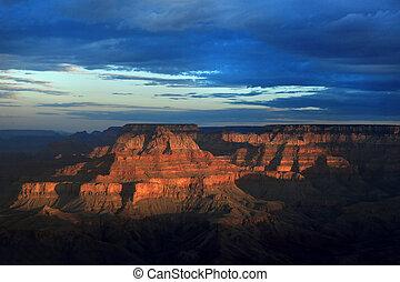 arizona, usa, cañon, velg, zuiden, voornaam, mooi en gracieus, zonopkomst