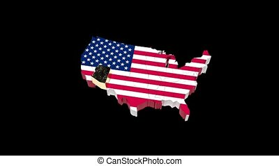arizona., usa., politica.l, map., 애리조나 국가, map., 비디오, 은 있는다,...