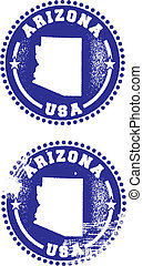 Arizona USA Stamps