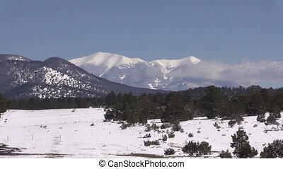 Arizona Winter Landscape - a scenic snow covered winter...