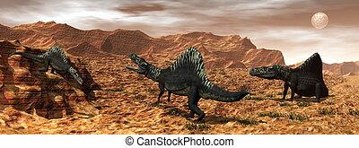Arizonasaurus dinosaurs - 3D render