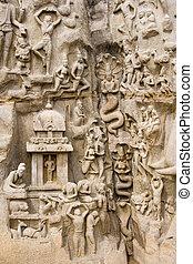 Arjunas Penance - Mahabalipuram - India