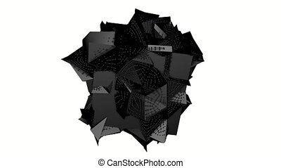 ark abstract three-dimensional shape. 3d rendering - ark...