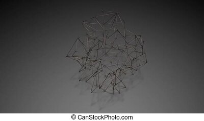 ark abstract three-dimensional shape is slowly deformed. 3d rendering