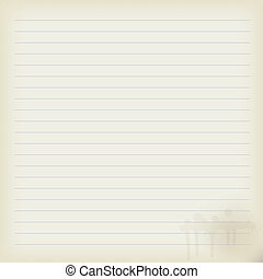 ark, anteckningsbok, gammal, tom