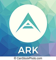 Ark cryptocurrency coin logo - blockchain vector