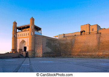 Ark Fortress. Bukhara. - Ancient residence of Bukhara emirs...