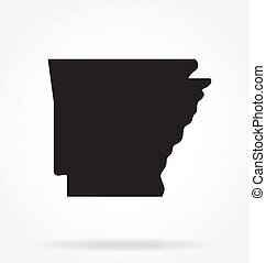 arkansas ar state map shape silhouette simplified vector