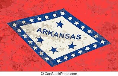 arkansas, bandeira estatal, grunge