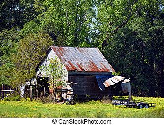 Arkansas Barn of Tin and Wood