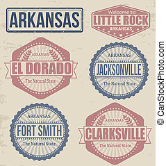 Arkansas cities stamps