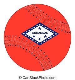 Arkansas Flag Baseball