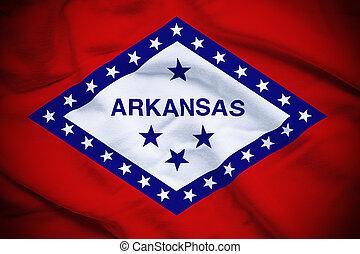 Arkansas Flag - Wavy and rippled national flag of Arkansas ...