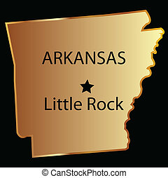 Arkansas gold state map