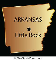 Arkansas gold state map
