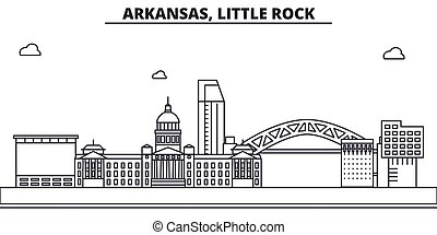 Arkansas, Little Rock architecture line skyline illustration...