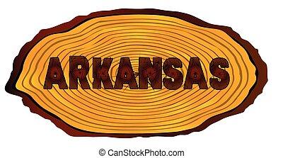 Arkansas Log Sign