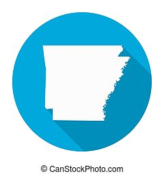 Arkansas Map Flat Icon