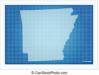 Iowa on blueprint on a white background vector clip art search arkansas on blueprint malvernweather Gallery