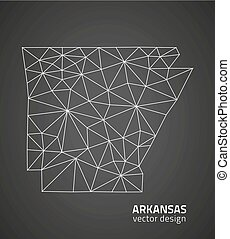 Arkansas outline map, U.S.A. state
