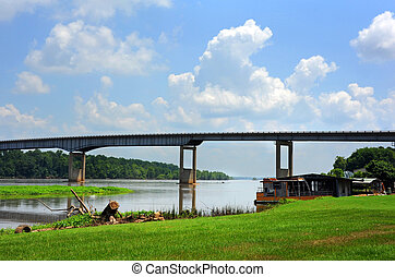 Arkansas River and Bridge