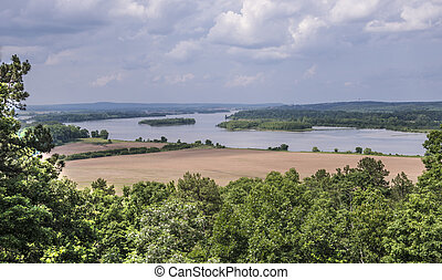 Arkansas River Flowing through the Ozarks
