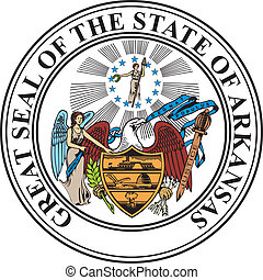 Arkansas seal - Various vector flags, state symbols, emblems...