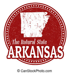 Arkansas stamp - Vintage stamp with text The Natural State...