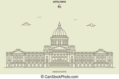 Arkansas State Capitol in Little Rock, USA. Landmark icon in...
