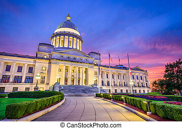 Arkansas State Capitol - Little Rock, Arkansas, USA at the...