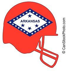 Arkansas State Flag Football Helmet