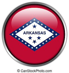 Arkansas State Flag glossy button