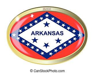 Arkansas State Flag Oval Button