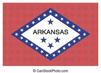 Arkansas State Flag White Dots