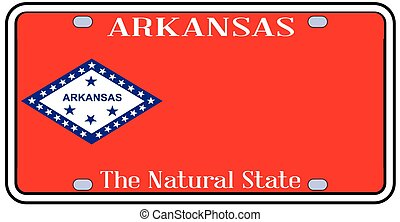 Arkansas State License Plate