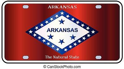 Arkansas State License Plate Flag - Arkansas state license...