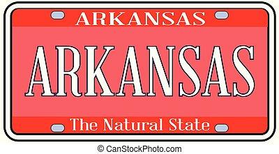 Arkansas State License Plate Spoof - Arkansas state license...