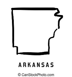 Arkansas state map outline - smooth simplified US state ...
