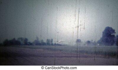 arkansas, usa, -, 1966:, vliegtuig, oogst