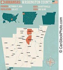 Arkansas: Washington county map