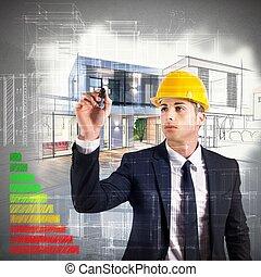 arkitekt, energi, bekräftelse