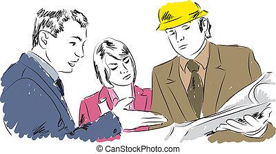 arkitekter, illustration