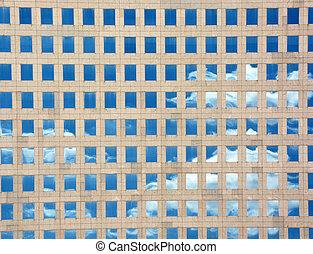 arkitektonisk, bakgrund, med, skyn, reflexion