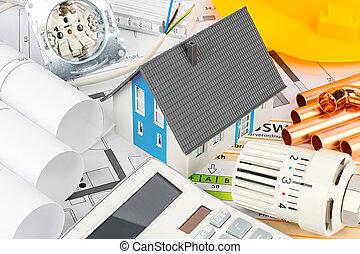 arkitektur, resindental, logera konstruktion