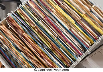 arkivera, färgrik