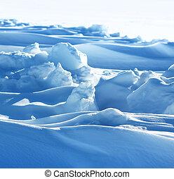 arktisch, bildung, schnee, rein