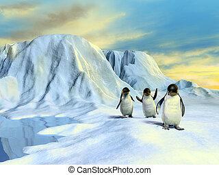 arktisch, landschaftsbild
