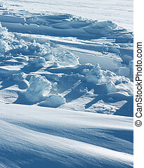 arktisk, formande, snö, ren