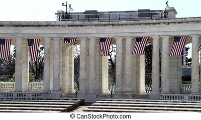 Arlington Amphitheater Flags Three - Arlington National...