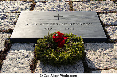 Arlington Cemetary - John Firtzgerald Kennedy's grave at...